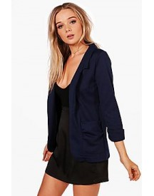 Mia Ruched Pocket And Sleeve Ponte Blazer afbeelding