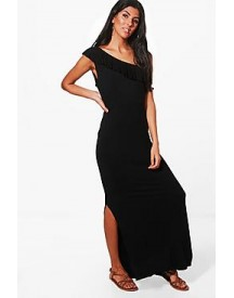 Molly One Shoulder Frill Maxi Dress afbeelding