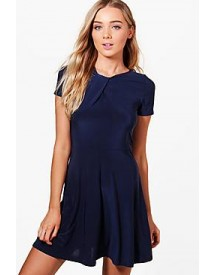 Molly Wrap Detail Skater Dress afbeelding