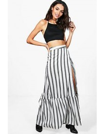 Myah Wrap Front Woven Maxi Skirt afbeelding