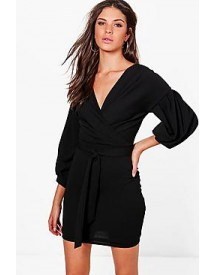 Nala Off The Shoulder Wrap Detail Bodycon Dress afbeelding
