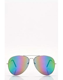 Nancy Rainbow Lens Aviator Sunglasses afbeelding