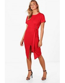 Olivia D-ring Belted Midi Dress afbeelding