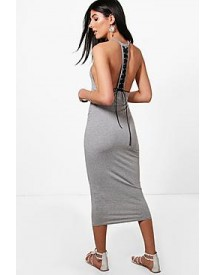 Olivia Lace Up Back Midi Dress afbeelding