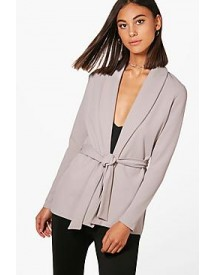 Olivia Tailored Collared Belted Blazer afbeelding