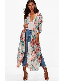 Petite Emma Bright Floral Duster Jacket afbeelding