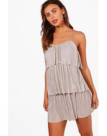Petite Fiona Tiered Pleated Dress afbeelding