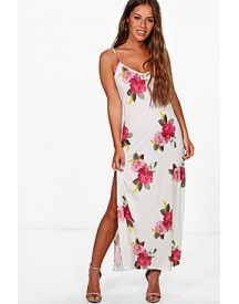 Petite Harriet Floral Tie Strap Maxi Dress afbeelding