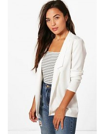 Petite Kate Notch Detail Oversized Boyfriend Blazer afbeelding
