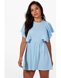 Petite Katy Frill Detail Skater Dress afbeelding