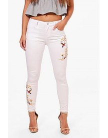 Petite Laurie Embroidered Skinny Jean afbeelding