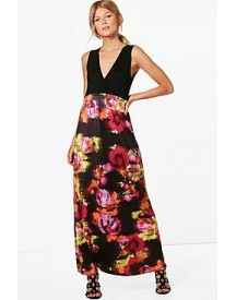 Petite Phillipa Floral Print Maxi Dress afbeelding