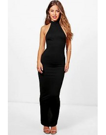 Petite Taylor High Neck Backless Maxi Dress afbeelding
