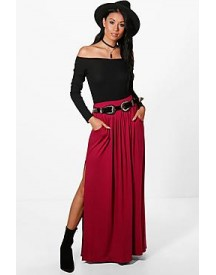 Petra Pocket Front Double Side Split Maxi Skirt afbeelding