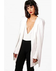 Phoebe Split Back Longline Tailored Crepe Cape afbeelding