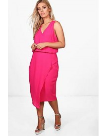 Plus Anna Wrap Front Occasion Dress afbeelding