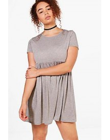 Plus Belinda Turn Up Sleeve Skater Dress afbeelding