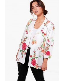 Plus Billy Floral Print Blazer afbeelding