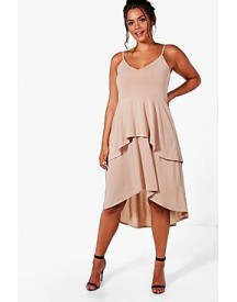 Plus Elena Dip Hem Skater Dress afbeelding