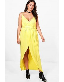 Plus Erin Jersey Plunge D-ring Maxi Dress afbeelding
