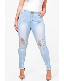 Plus Holly Ripped Skinny Jean afbeelding