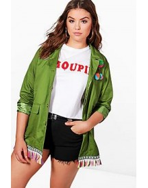 Plus Hope Embroidered Festival Jacket afbeelding
