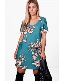 Plus Isla Floral Print Shift Dress afbeelding