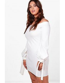Plus Jemima Off The Shoulder Cuff Bodycon Dress afbeelding