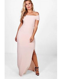 Plus Louisa Off The Shoulder Maxi Dress afbeelding
