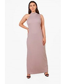 Plus Lydia High Neck Scoop Sleeve Maxi Dress afbeelding