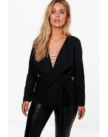 Plus Nina Tie Front Tailored Jacket afbeelding