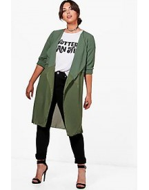 Plus Sandy Chiffon Detail Duster afbeelding