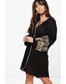 Plus Verity Embroidered Smock Dress afbeelding