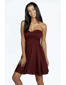 Polly Bandeau Skater Dress afbeelding