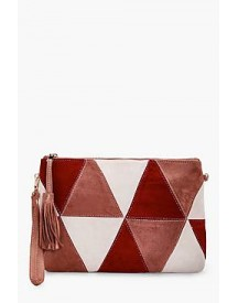 Poppy Suedette Patchwork Cross Body afbeelding