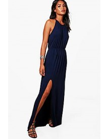 Rebecca High Neck Split Front Maxi Dress afbeelding