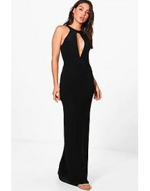 Riley Plunge Front Keyhole Maxi Dress afbeelding
