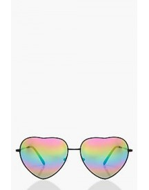 Rosie Heart Shaped Mirrored Lens Sunglasses afbeelding