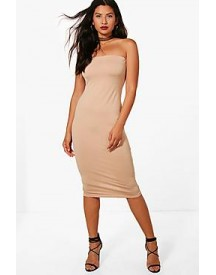 Ruby Textured Slinky Bandeau Midi Dress afbeelding