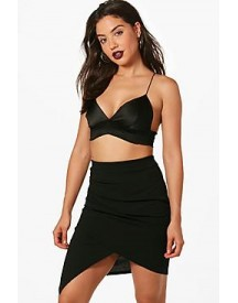 Rudy Rouched Wrap Front Mini Skirt afbeelding