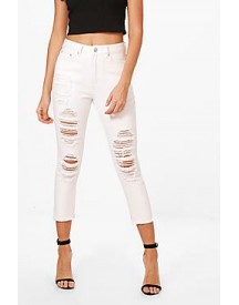 Runa Cropped Tapered Ankle Mom Jeans afbeelding