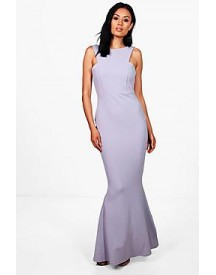 Sena Cutaway Neckline Fishtail Maxi Dress afbeelding