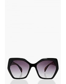 Serena Oversized Angular Sunglasses afbeelding