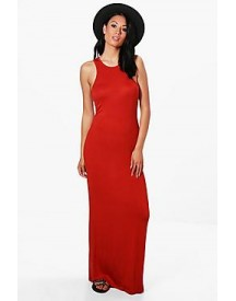 Sheeva Basic Racer Front Maxi Dress afbeelding