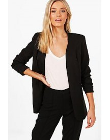 Sophie Collarless Tailored Lined Woven Blazer afbeelding