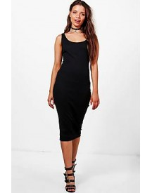 Sophie Ribbed Jersey Midi Dress afbeelding