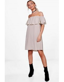 Sophie Ruffle Off Shoulder Swing Dress afbeelding