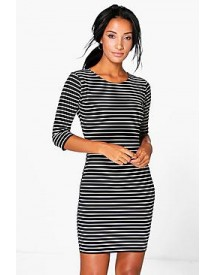 Tabbie 3/4 Sleeved Bodycon Dress afbeelding