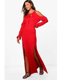 Tall Bella Cold Shoulder Maxi Dress afbeelding