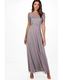 Tall Boutique Shira Embellished Maxi Dress afbeelding